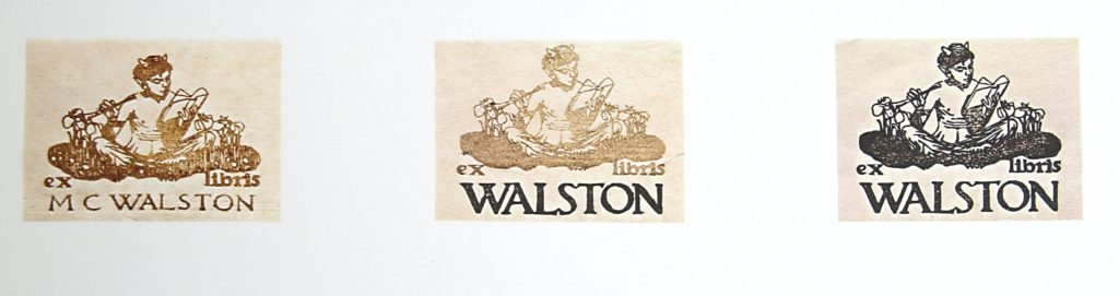 Bookplate for M.C. Walston by WJ Phillips