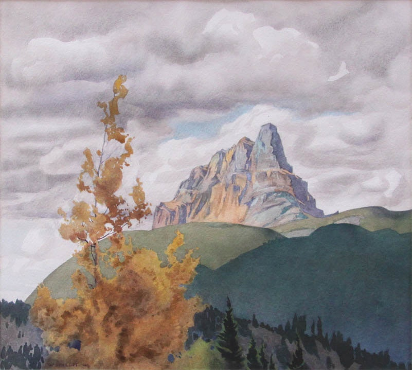 Castle Mountain by WJ Phillips