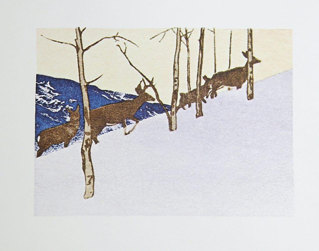 Deer on Hillside by WJ Phillips