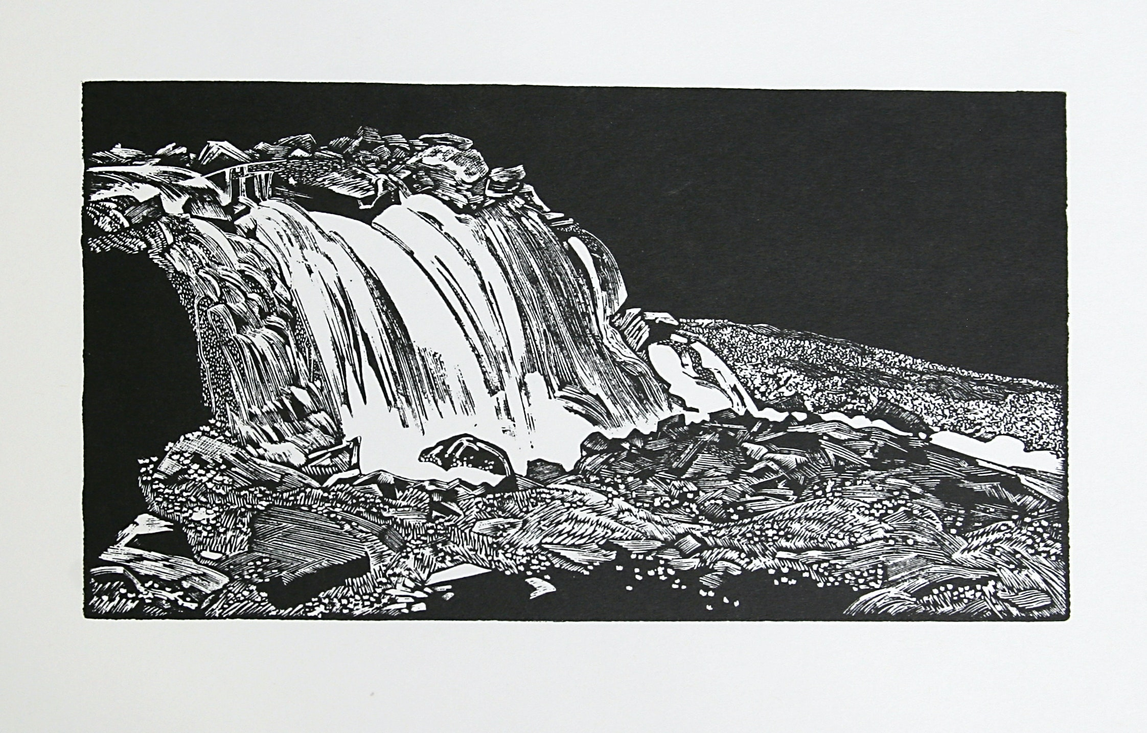 Falls Below Oesa by WJ Phillips