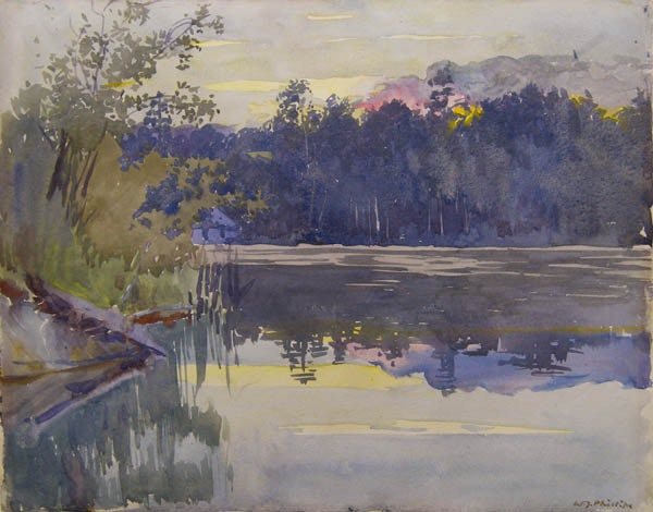 Lake at Sunset by WJ Phillips