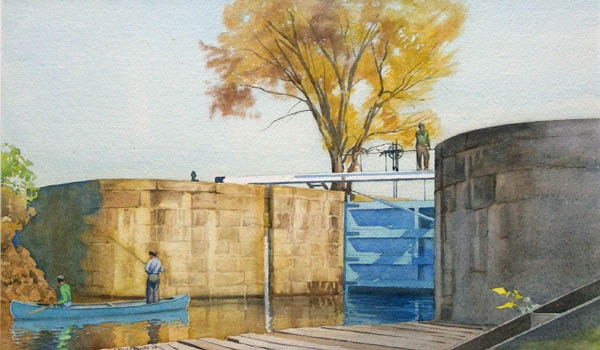 Lock Gates at Sault Ste. Marie by WJ Phillips