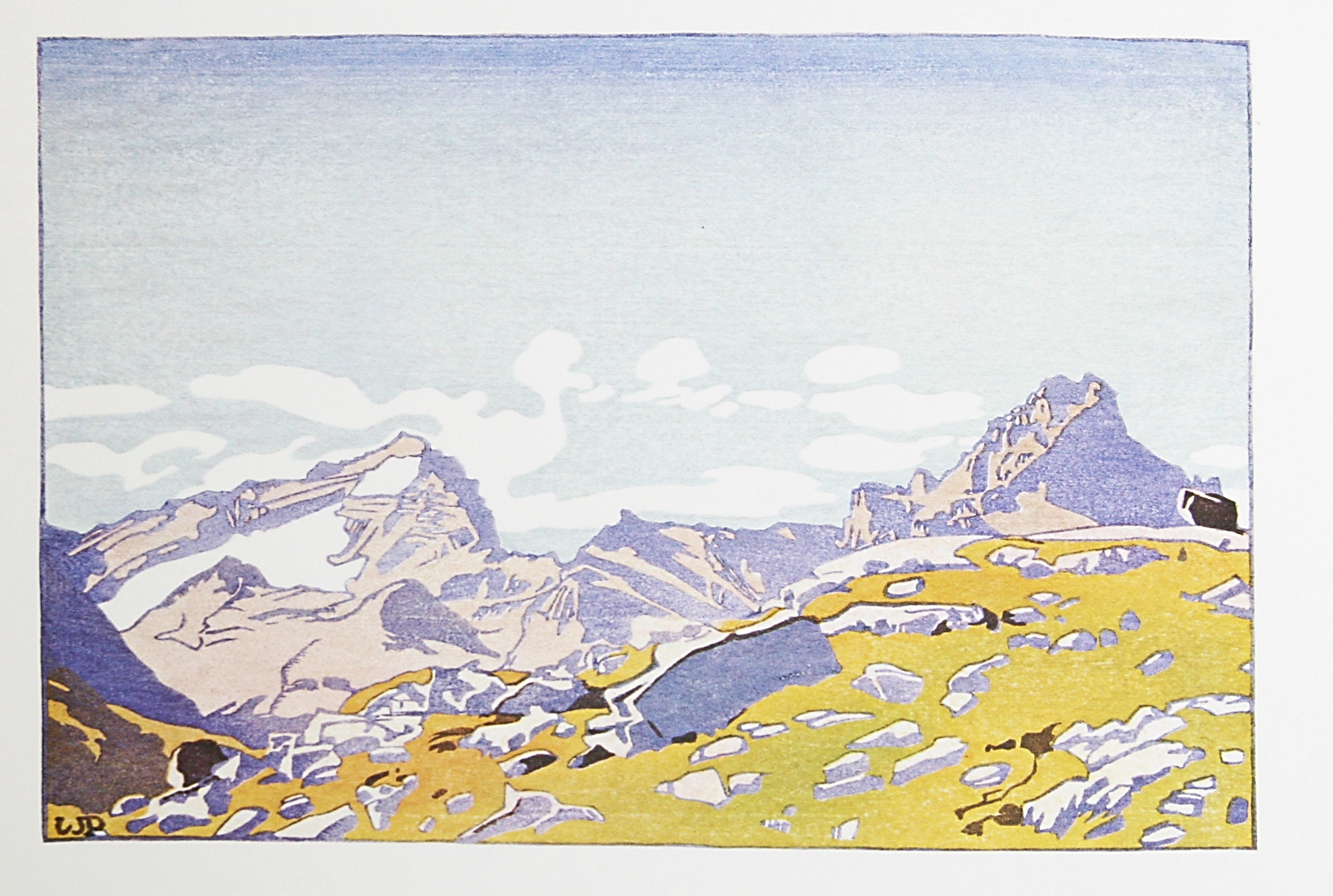 Mount Cathedral & Mount Stephen by WJ Phillips
