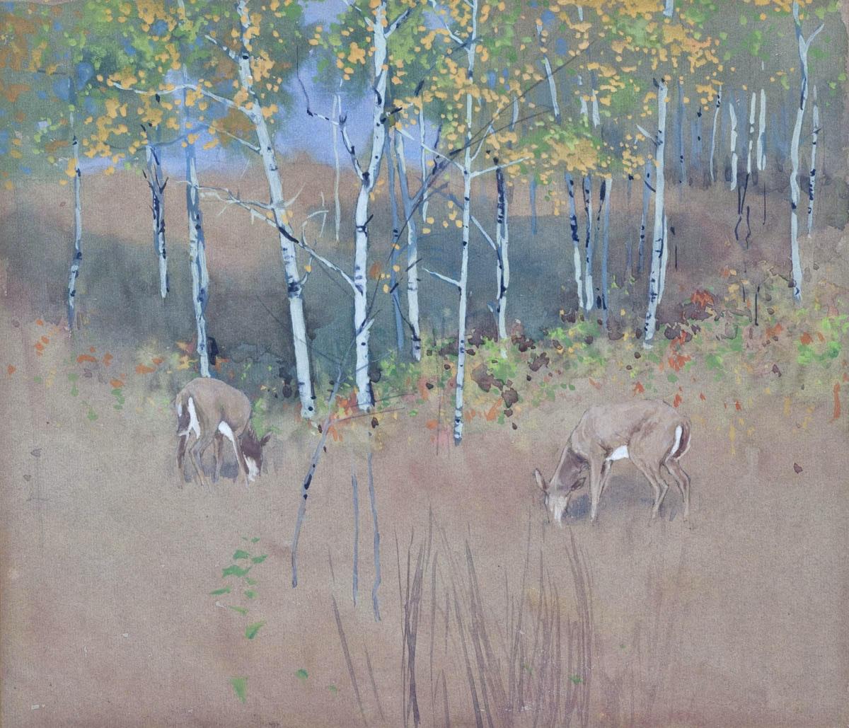 Poplars by WJ Phillips