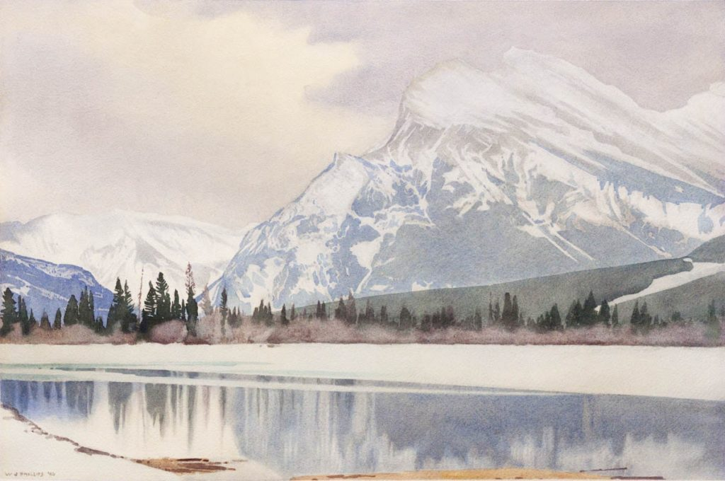 Rundle in Winter by WJ Phillips