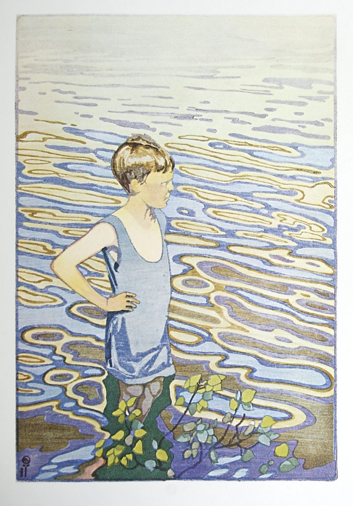 The Bather by WJ Phillips