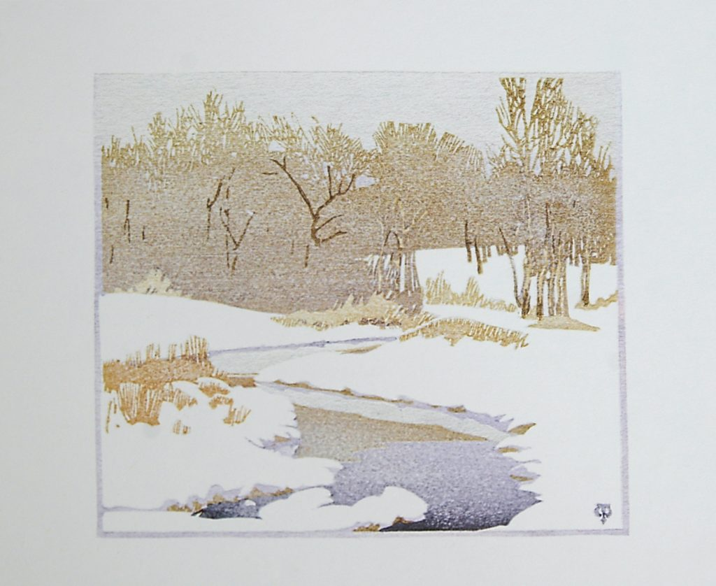 The Stream in Winter by WJ Phillips