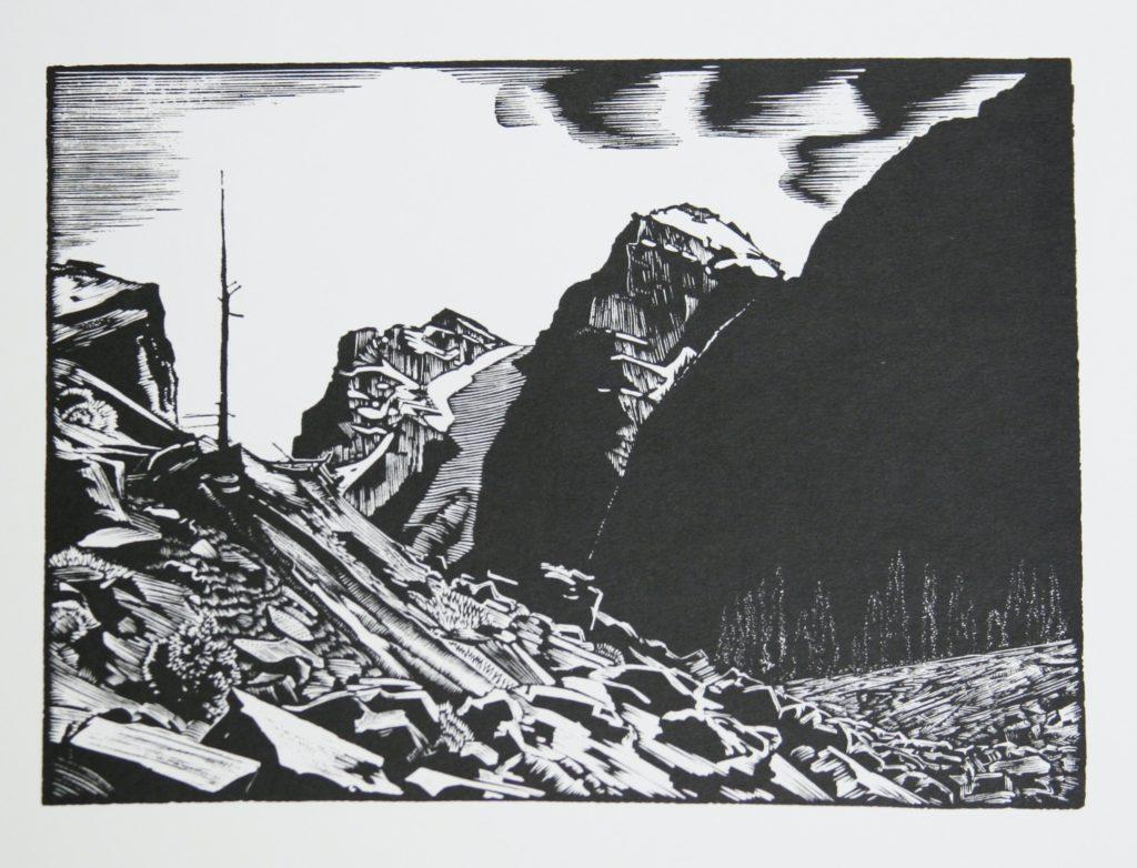 Valley of the Ten peaks by WJ Phillips