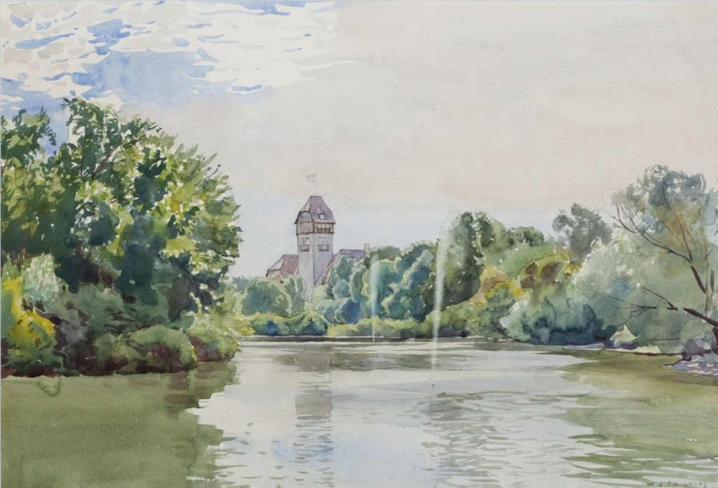 View of Assiniboine Park Pavilion by WJ Phillips