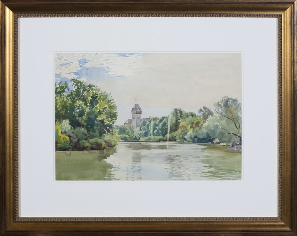 View of Assiniboine Park Pavilion [Framed] by WJ Phillips