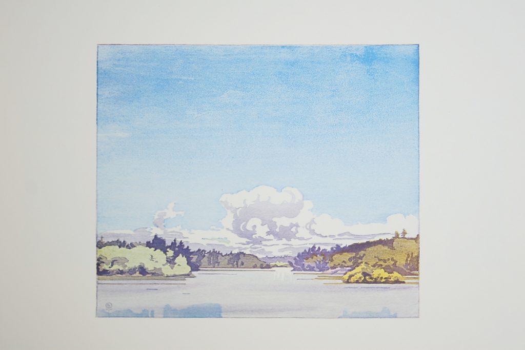 Winnipeg River at Minaki by WJ Phillips